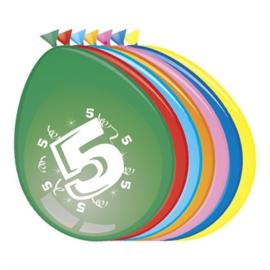 Ballonnen 5 jaar (Ø30cm, 8st)