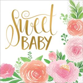 Servetten Sweet Baby 33 cm - 16 stuks