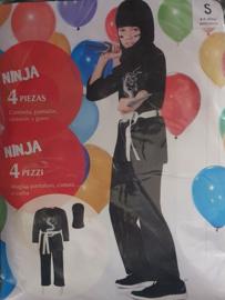 Ninja Verkleedpak - carnavalspak (3-delig)