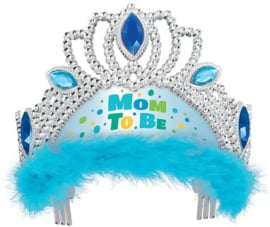 "Tiara ""Mom to be"" Blauw"