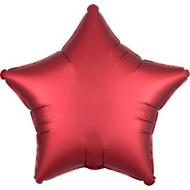 Folieballon ster satin sangria - 43 cm
