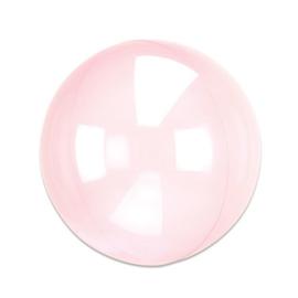 Folieballon Clearz donkerroze (38x40cm)