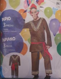 Indiaan Verkleedpak - carnavalspak (3-delig)
