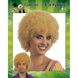 Krullenbol pruik blond