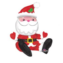 """Folieballon Kerst """"Zittende Kerstman"""""""