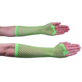 Nethandschoen lang fluor groen