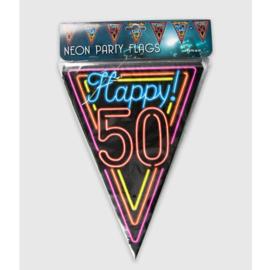 Vlaggenlijn Neon Happy 50 jaar