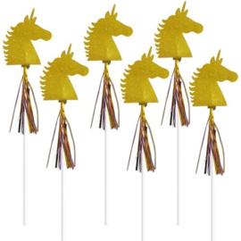 Magical Unicorn Toverstokjes - 6 stuks