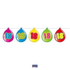 Vlaggenlijn Balloonshape 18 jaar