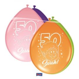 Latex Ballonnen Sarah Rainbow Lucht 8 Stuks