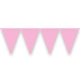 Vlaggenlijn babyroze (10m)