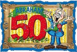 50 Jaar Abraham Deurbord - 48x35cm
