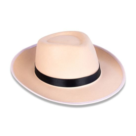 Blues Brothers hoed vilt ivoor