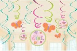 Hangende Swirls Baby Girl 12 Stuks