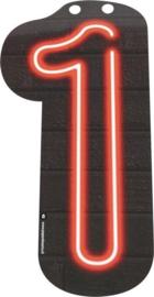 Neon Cijfer 1 - 24cm