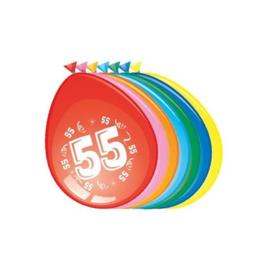Latex Ballonnen 55 jaar 8 Stuks