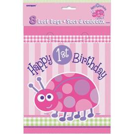 1e Verjaardag Lieveheersbeestje uitdeelzakjes