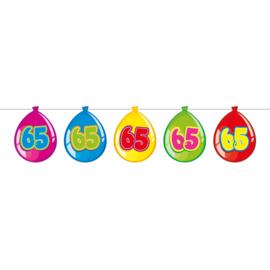 65 Jaar Birthday Ballonnen Slinger - 10 meter