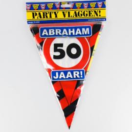 Vlaggenlijn Party 50 Jaar Abraham Verkeersbord