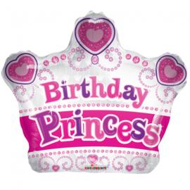 Folieballon Birthday Princess - 45 cm