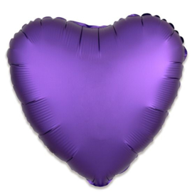 Folieballon hart satin koningspaars 43 cm