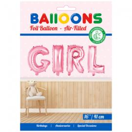 Baby Roze Folie Ballonnen Set GIRL
