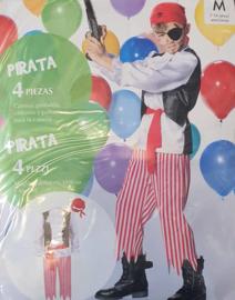 Piraat Verkleedpak - carnavalspak (3-delig)