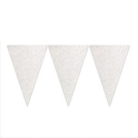 Vlaggenlijn glitter zilver (6m)