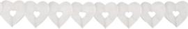 Slinger hart klein wit - 6 meter