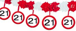 21 Jaar Verkeersbord Slinger met Onderhangers