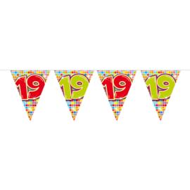 Vlaggenlijn birthday blocks 19 - 6 meter