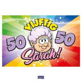 Deurbord 50 jaar Sarah Regenboog