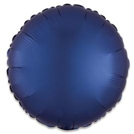 Folieballon rond satin navyblauw (43cm)