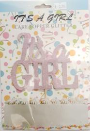 Cake Topper glitter It's  A Girl
