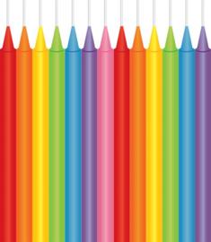 Jumbo Kaarsjes Multi Color 8 cm - 13 stuks