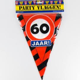 Vlaggenlijn Party 60 Jaar Verkeersbord
