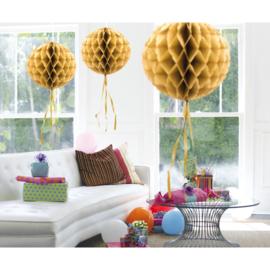 Honeycomb Bol Goud- 30 cm