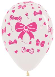 Ballon Transparant met Strikjes (1st)