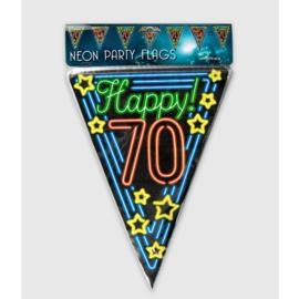 Vlaggenlijn Neon Happy 70 jaar