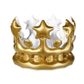 Kroon goud opblaasbaar (23cm)