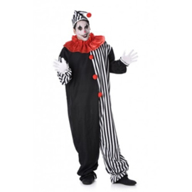 Clown Kostuum Heren Zwart-Wit