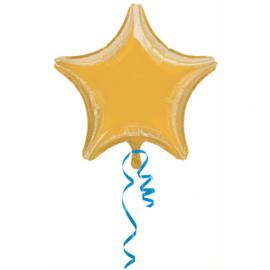 Folieballon ster goud (43cm)
