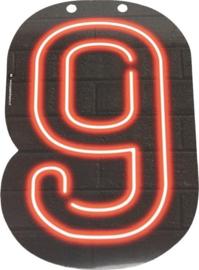 Neon Cijfer 9 - 24cm