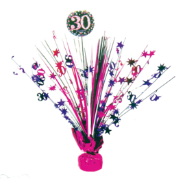 Roze Feest 30 Jaar Tafeldecoratie - 46 cm