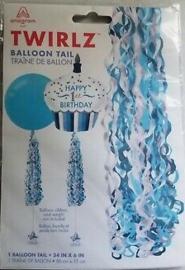 Ballonnen staart Balloon Tail Twirlz Baby Blauw