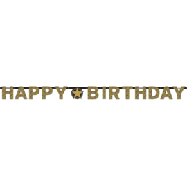 Glitterfeest Happy Birthday Letter Banner