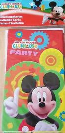 Mickey Mouse6 Uitnodigingskaarten - 6 Stuks