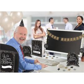 Verjaardag kantoor decoratie set