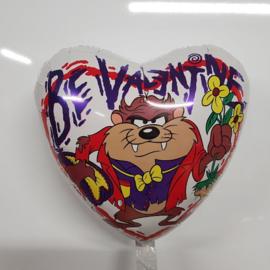 Folieballon Be Valentine tazmania 45 cm hart