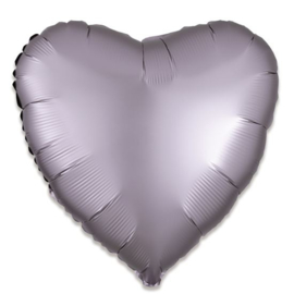 Folieballon hart satin greige - 43 cm